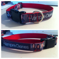 Vampire Diaries Dog Collar custom handmade