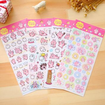 25 pcs/lot cartoon Kawaii Japan Kanahei design PVC sticker Scrapbook deco label sticker/kawaii office school supplies
