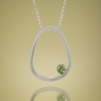 Give.Love Pendant Necklace with 7mm Peridot