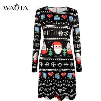 Dress, Christmas Sweater Dress Sm-5XL