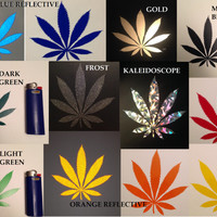 Marijuana Leaf Sticker *10 Color Options* Bong Marijuana Glass Bong Bongs Mile 420 Glass Pipe Weed 420 Glass Rare Rare