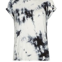 New Look Mobile | Teens Grey and White Tie Dye T-Shirt