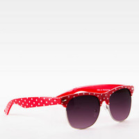 FELLINI POLKA DOT SUNGLASSES IN RED