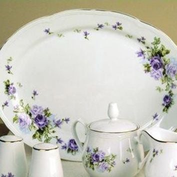 Lydia 14 inch Ova Porcelain Platter - Only 3 Available