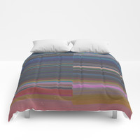 scanner stripes Comforters by duckyb