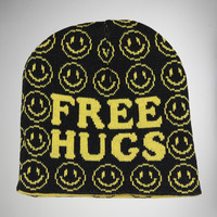 Free Hugs Smiley Face Beanie