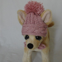 Pet Clothes Crochet Dog Hat  for Small Dogs Hand Knitted XS Size Nice Gift