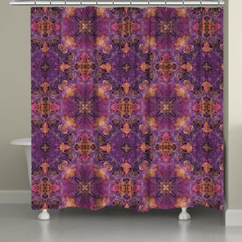 Azalea Leaves Shower Curtain