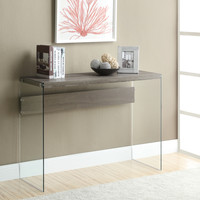Console Table - Dark Taupe With Tempered Glass