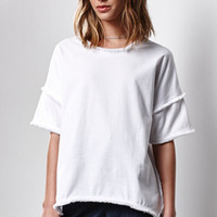 Lucca Couture Vera Knit Fringed T-Shirt at PacSun.com