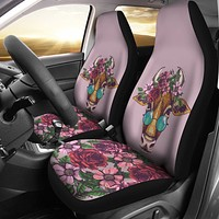 Floral Cow Car Seat Covers