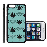 RCGrafix Brand Huf Diamond Apple Iphone 6 Plus Protective Cell Phone Case Cover - Fits Apple Iphone 6 Plus