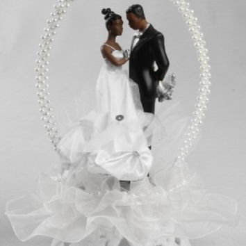 TY Wilson African-American Cake Topper