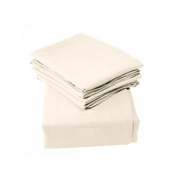 Regal Comfort Bamboo Luxury 2100 Series Hotel Quality Sheet Queen Cream