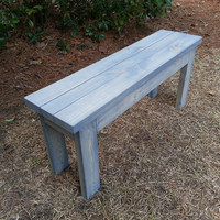 Handmade Rustic Farmhouse Style Bench
