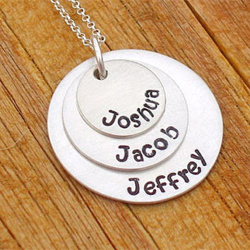 Grandma necklace personalized with all of her precious grandchildren close to her heart