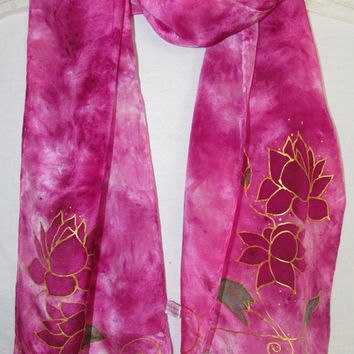 silk scarf, Pure Love, pink scarf, lotus , lotus scarf, yoga scarf, heart chakra, meditation, spiritual, meatphysical