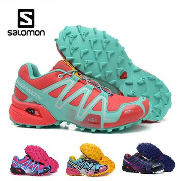 Salomon Speedcross 3 CS Outdoor Sports Woman Shoes Breathable Athletics Solomon Female Running Speed cross Fencing Shoes
