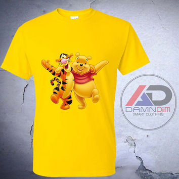 Winnie Pooh And Tiger , Winnie Pooh And Tiger tshirt, Winnie Pooh And Tiger shirt, Tshirt youth, kids tshirt, and Adult Tshirt