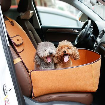 Luxury Nature Range Pet Dog Front Seat Cover Protector for Cars 2 in 1 Dog Carrier Cars Single-seat Dog House Bed Travel Seat