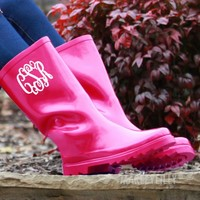 Monogrammed Rain Boots Decal | Marleylilly