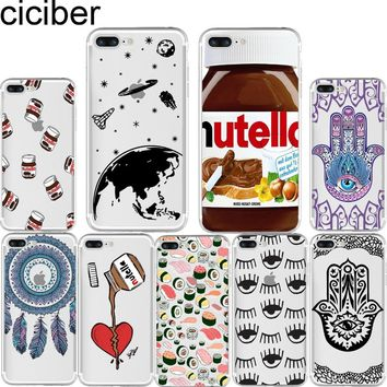 ciciber Tumblr Nutella Dreamcatcher Sushi Fatima Soft Silicon Case Cover for Iphone 7 6 6S 8 Plus 5S SE X XR XS MAX Coque Fundas