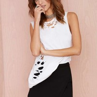 Nasty Gal Point Blank Asymmetric Skirt