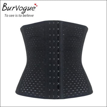 Women Slimming Body Shaper Waist Training Black Underbust Breathable Body Waist Trainer Tummy Timmer Shaper = 1716095108