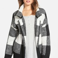 Junior Women's artee couture Plaid Cardigan Coat ,