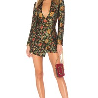Lovers + Friends Ally Mini Dress in Black Floral | REVOLVE