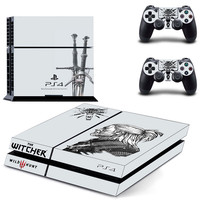 The witcher wild hunt decal for PS4 console & condrollers skin sticker
