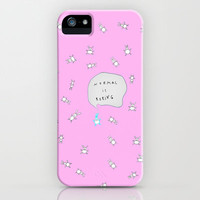 ***NORMAL IS BORING *** PINK iPhone & iPod Case by M✿nika  Strigel for iphone 5 + 4 + 4S + 3 + 3G + ipodtouch + SAMSUNG GALAXY