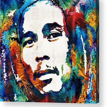 Colors Of Reggae - Bob Marley Tribute Acrylic Print