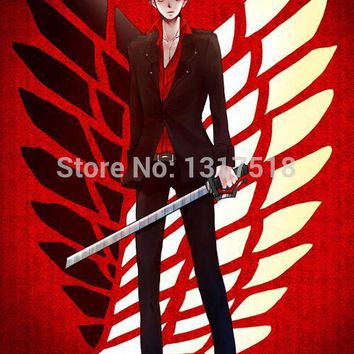 Cool Attack on Titan Big Sales Decals Posters 27x40cm Levi/Rivaille Red Back  Home Wall Poster AT_90_11