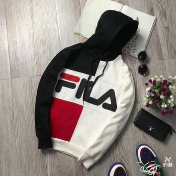 FILA  Women Men Cardigan Jacket CoatDown Jackets