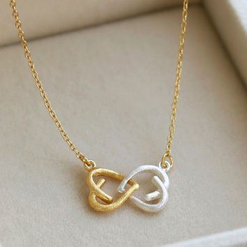New Arrival Jewelry Shiny Gift Korean Stylish 925 Silver Simple Design Heart Pendant Necklace [8080530119]