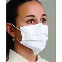 SENSITIVE PLEATED EARLOOP WHITE MASK (MK-7120) 50/BOX [2083-MD]