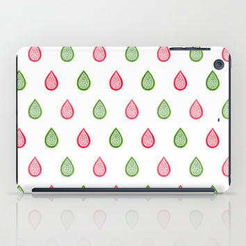 Pink and green raindrops iPad Case by Savousepate