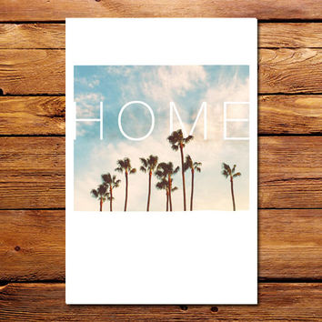 Home Palms Poster