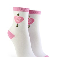 Power To The Girls Graphic Crew Socks