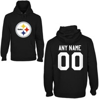Pittsburgh Steelers Mens Custom Any Name & Number Hooded Sweatshirt