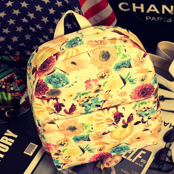 Canvas Floral Backpack = 4887991684