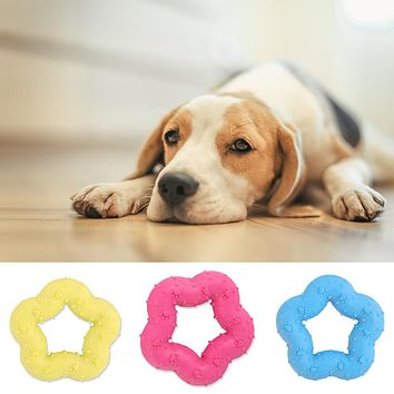 Pet Dog Puppy Durable Five-Pointed Star Shape Chewing Teeth Grinding Play Toys