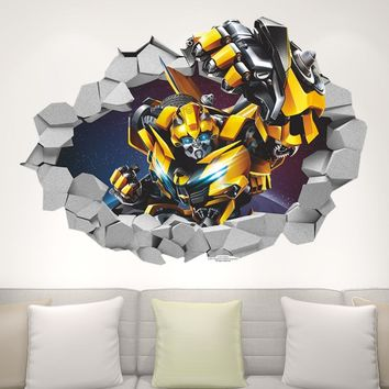 Transformer Robot 3D Wall Decal