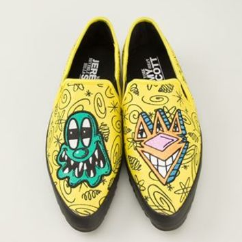 Adidas Originals Jeremy Scott Embroidered Slip-on Sneakers - Eraldo - Farfetch.com