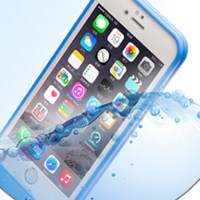 Touch-screen Ultra-thin Transparent Silicone Waterproof and Dustproof Protective Iphone Case
