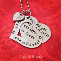 "Personalized heart necklace ""Hold you in my Heart until I hold you in Heaven"". Memorial jewelry"