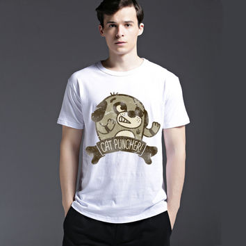 Cotton Men's Fashion Casual Lovely Short Sleeve Summer Cute Fashion Tee T-shirts = 6451760195