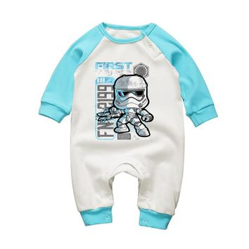Star Wars Force Episode 1 2 3 4 5 2017 Baby Clothing Set Newborn Baby Long Sleeve Rompers  Stormtrooper Boys Clothes Cotton Baby Girls Cartoon Jumpsuits AT_72_6