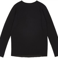 Raglan Sweatshirt Black - TIINA the STORE